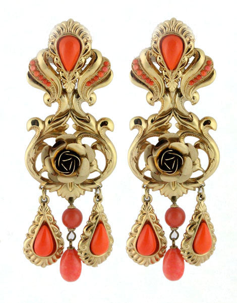 ZOE COSTE CORAL EARRINGS