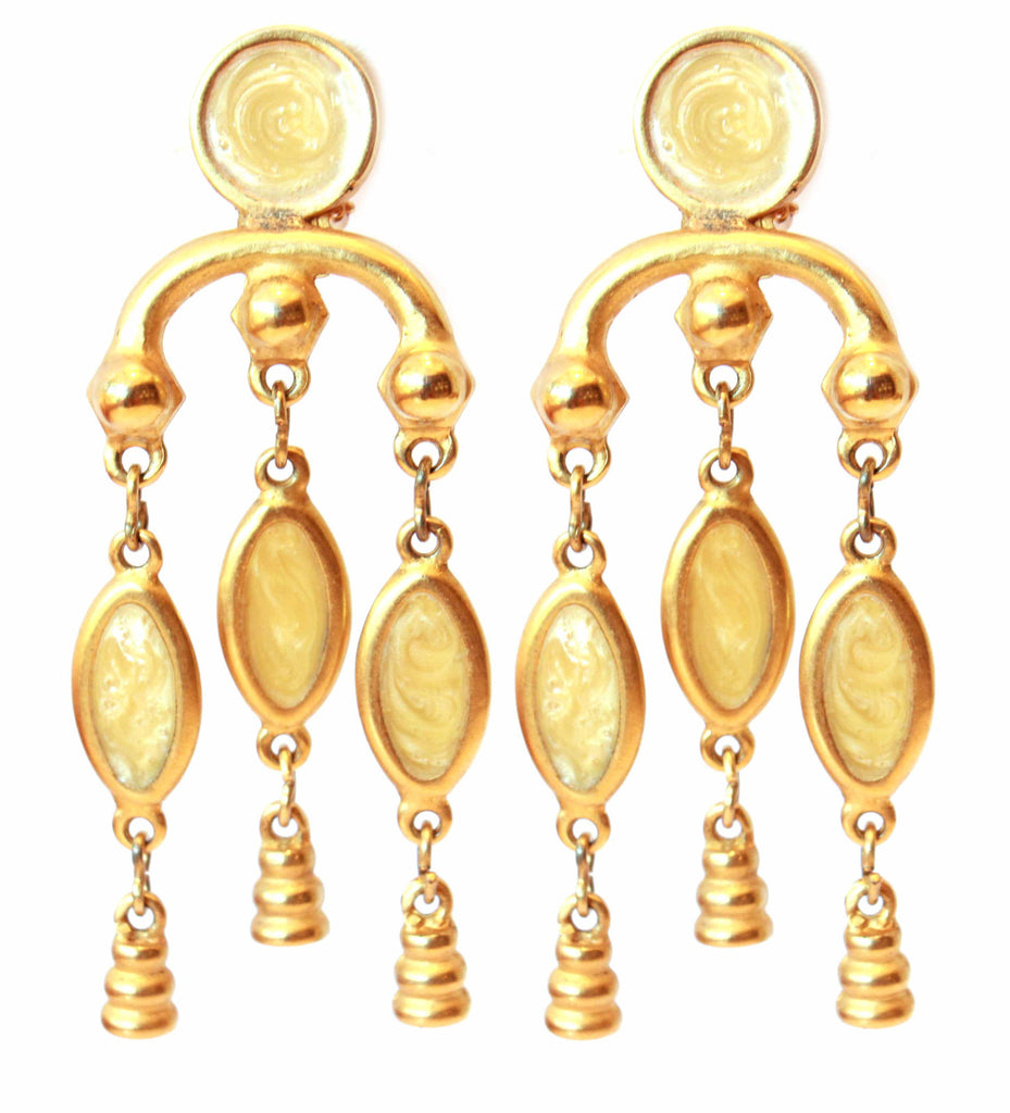 1970s Unsigned Yellow Earrings