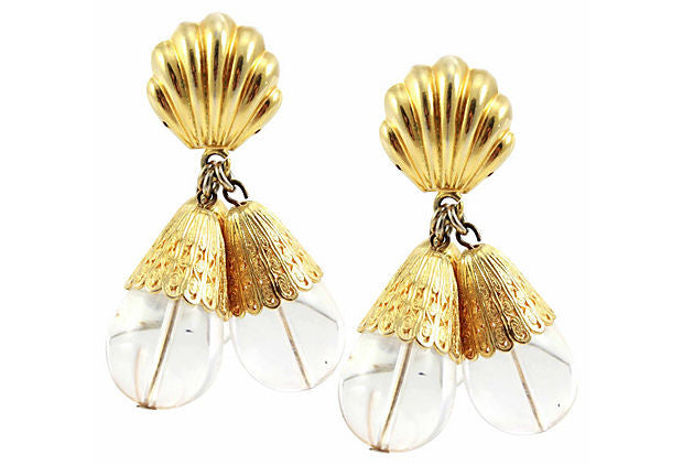 1980s Lucite Earrings