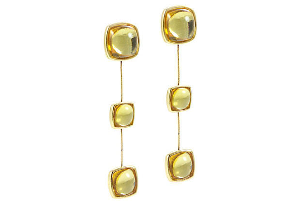 YSL Yellow Drop Earrings