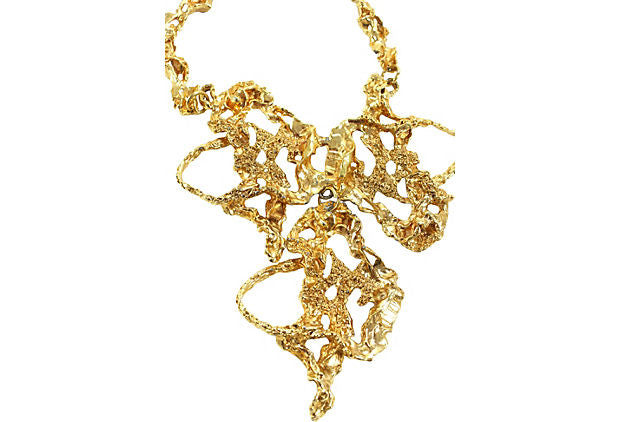 1970's Gold Abstract Necklace