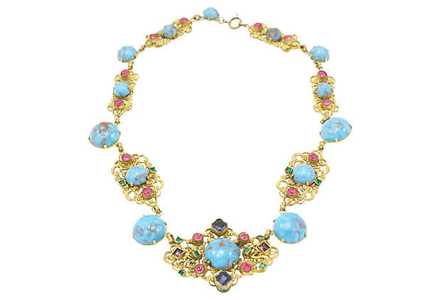 Austrian Multi Colored Necklace