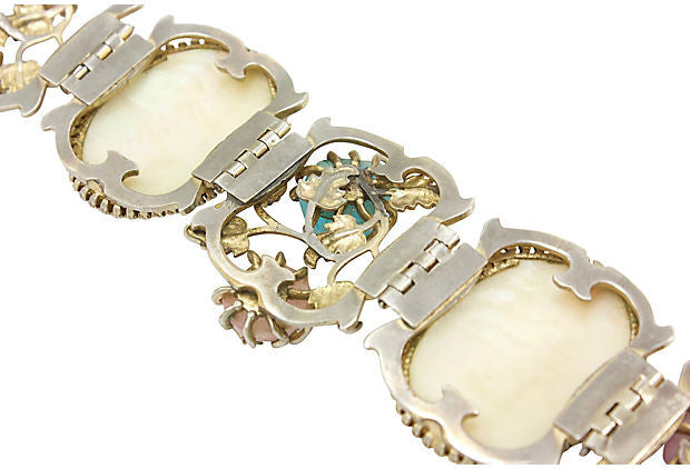 1950's Unsigned Mother-of-pearl Bracelet