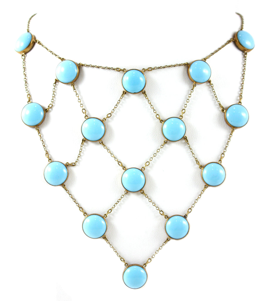 VICTORIAN PERSIAN TURQUOISE NECKLACE