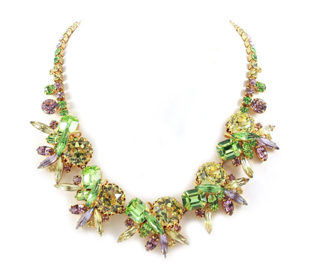 1950's Alice Caviness Multi Stone Necklace