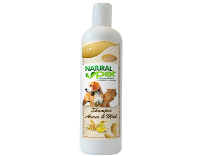 Natural Pet Shampoo Avena Miel 16 onz.