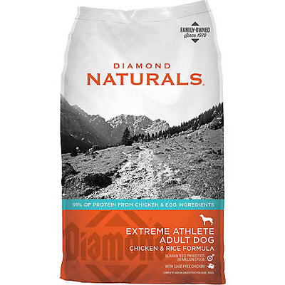 DIAMOND NATURALS EXTREME ATHLETE ADULT DOG CHICKEN & RICE 40LBS
