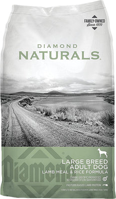 DIAMOND NATURALS LARGE BREED ADULT DOG LAMB MEAL & RICE 40LBS
