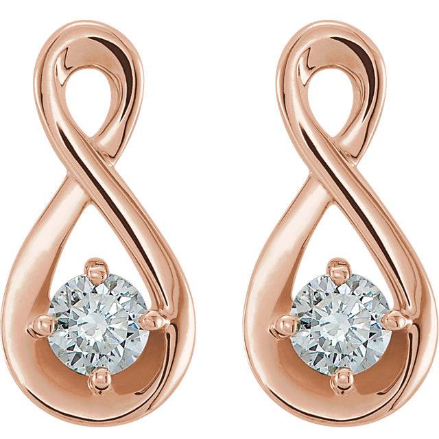 Diamond Infinity-Inspired Earrings