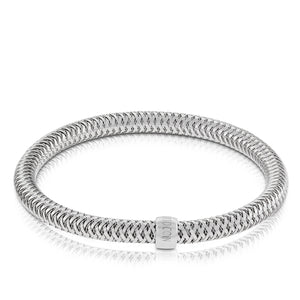 Primavera White Gold Bangle Bracelet