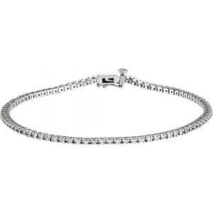 7/8 CTW Lab-Grown Diamond Tennis Bracelet