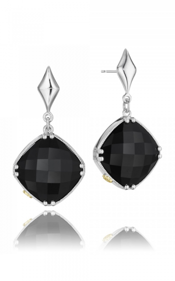 City Lights Checkered Gem Drop Earrings