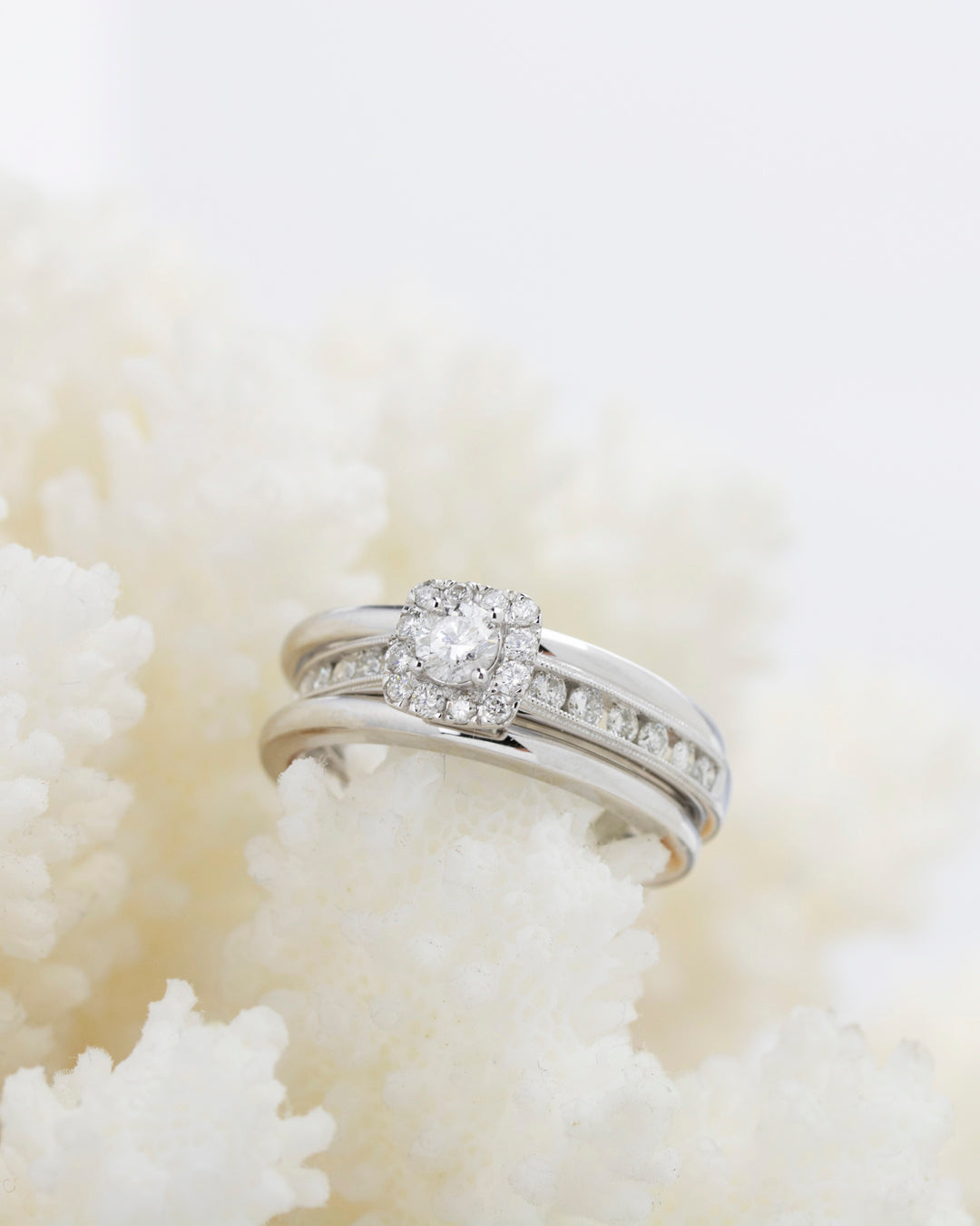 Diamond Engagement Ring Guard Set