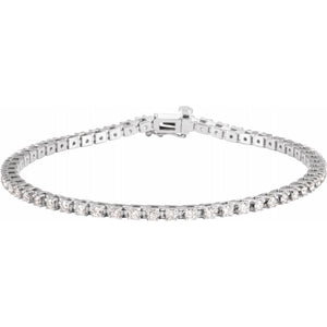 2 1/4 CTW Lab-Grown Diamond Tennis Bracelet