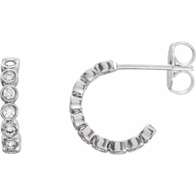 Lab-Grown Diamond Hoop Earrings