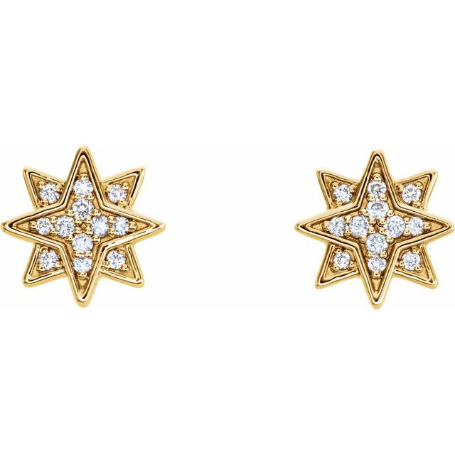 Diamond Star Earrings