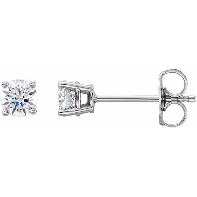 4 prong Lab-Grown Diamond Stud Earrings