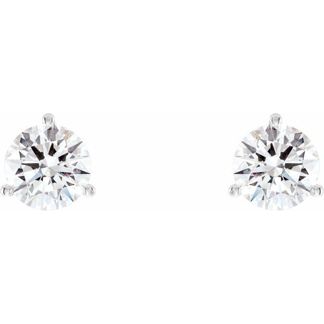 3 prong Lab-Grown Diamond Stud Earrings