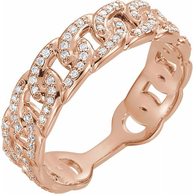 Diamond Stackable Chain Link Ring