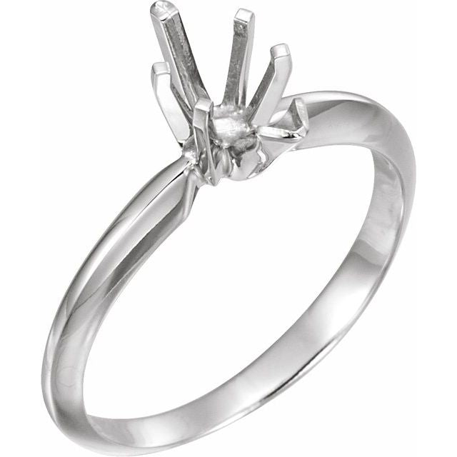 Pear Shape Six-Prong Solitaire Mounting with V-End