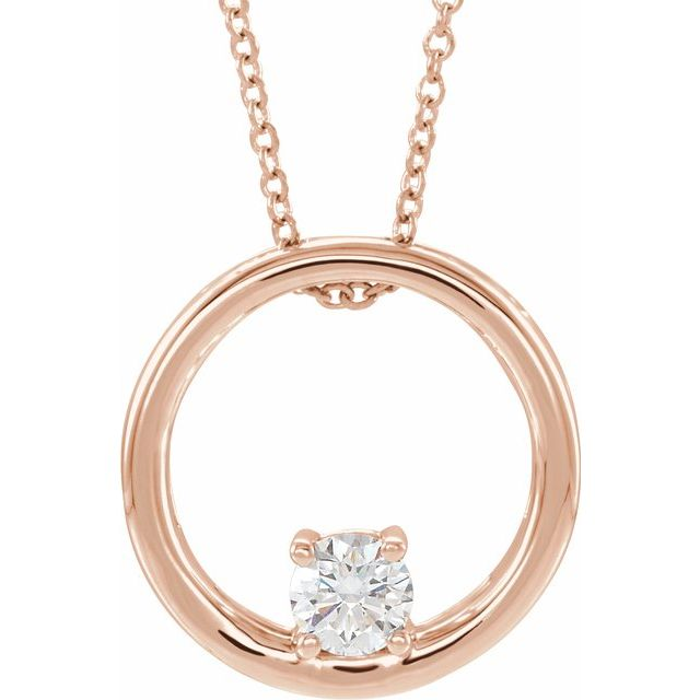 Lab-Grown Diamond Circle Necklace