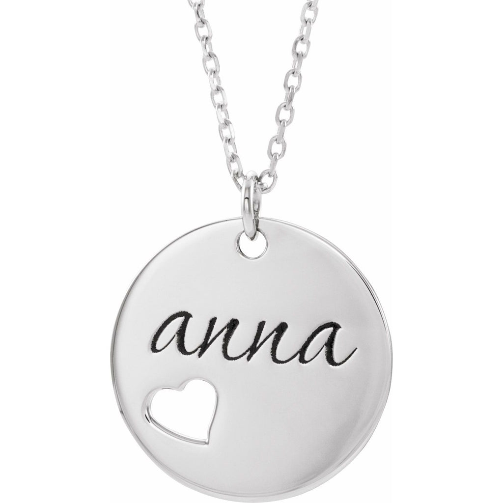 Pierced Heart Engravable Necklace