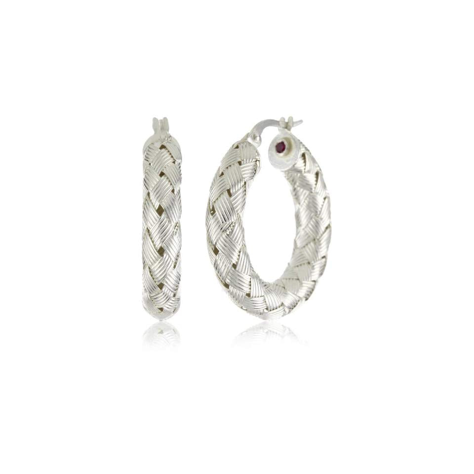 Small Woven Hoop Earrings