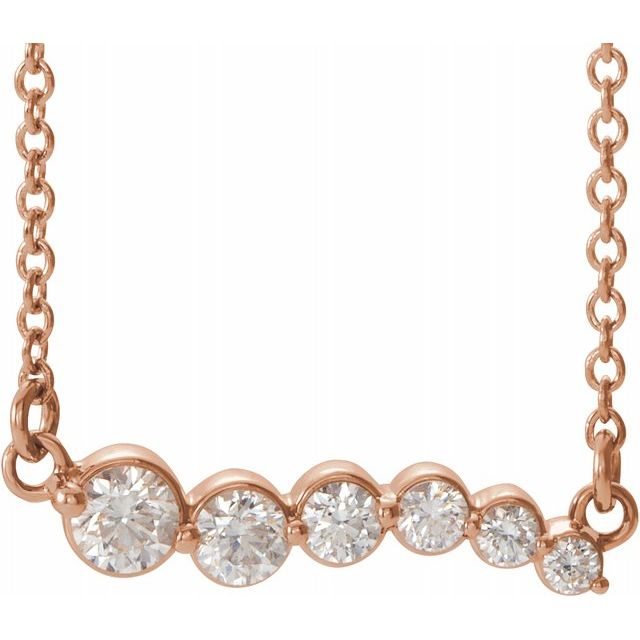 Lab-Diamond Graduated Necklace