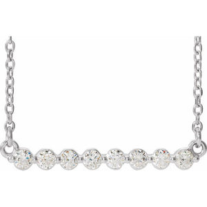 Lab-Grown Diamond Bar Necklace