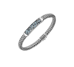 Classic Chain Bracelet With London Blue Topaz