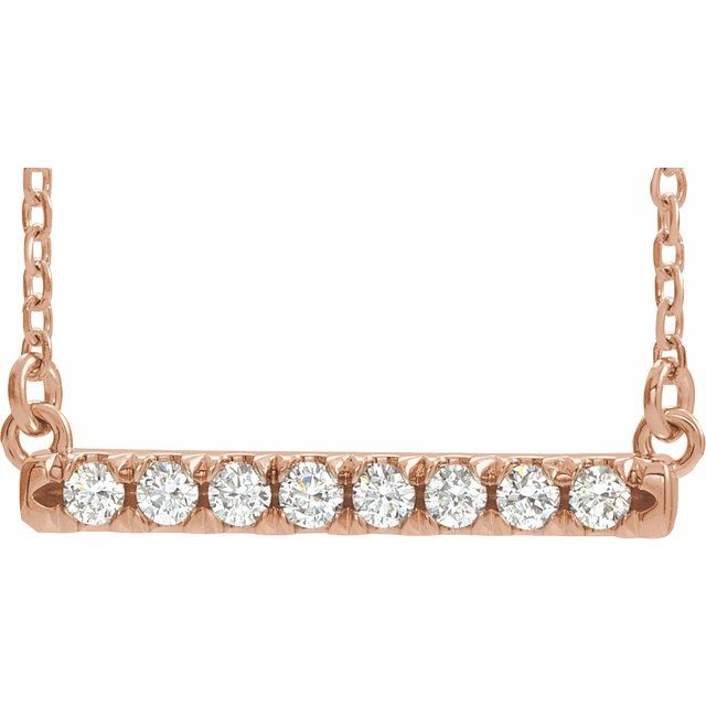Lab-Grown Diamond French-Set Bar Necklace