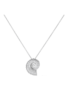 Diamond Seashell Necklace