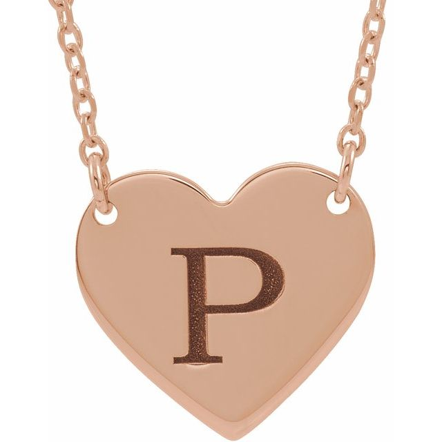Engravable Heart Necklace