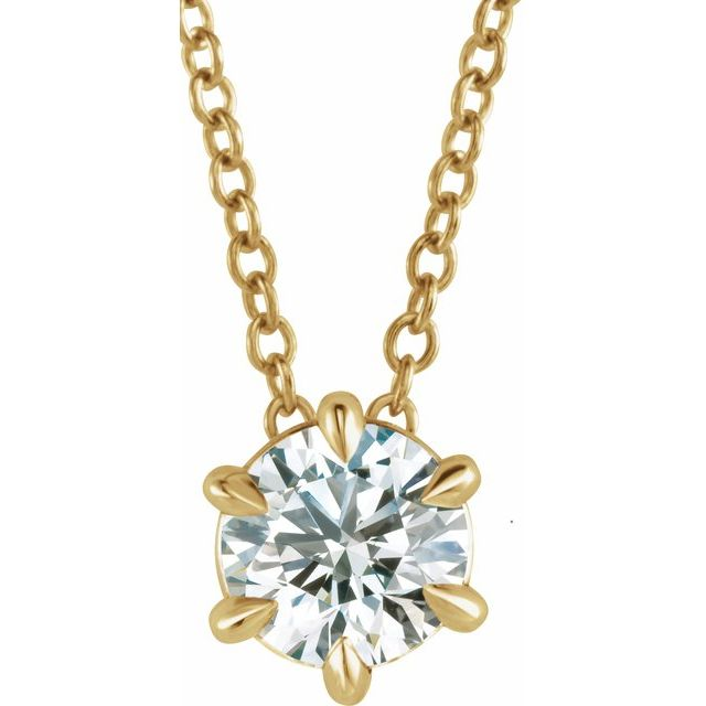 Lab-Grown Diamond Solitaire Necklace