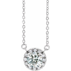 Lab-Grown Diamond French-Set Necklace
