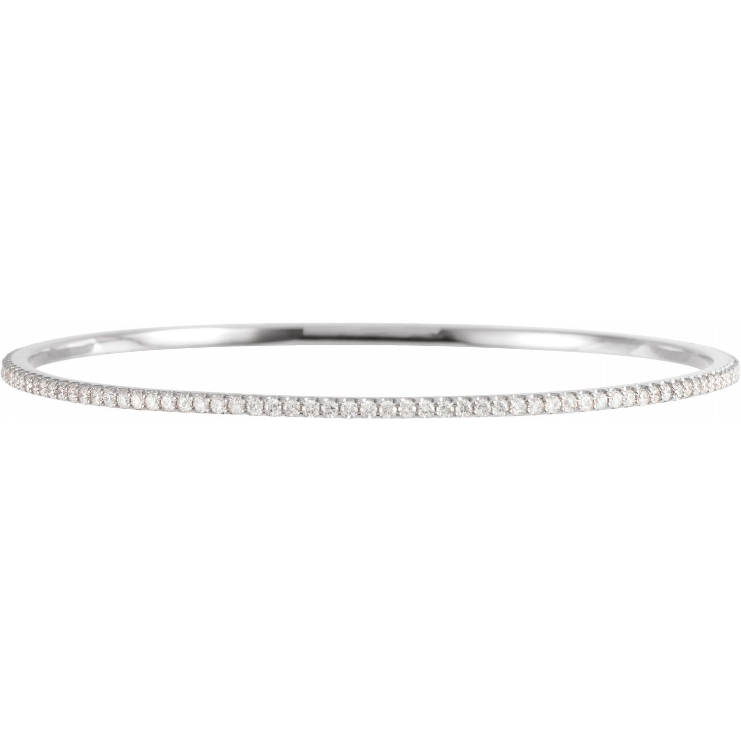 2 CTW Lab-Grown Diamond Stackable Bangle Bracelet