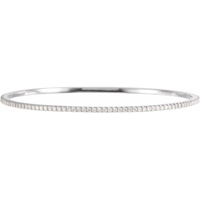"Lab-Grown Diamond Stackable Bangle 8"" Bracelet"
