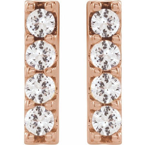 Lab-Grown Diamond Bar Earrings