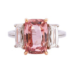 """Sunrise"" Padparadscha Sapphire and Diamond Ring"