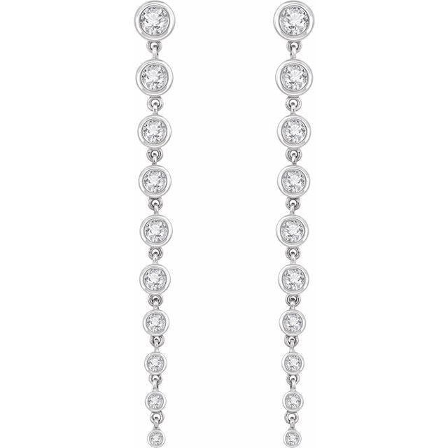 2 CTW Lab-Grown Diamond Earrings