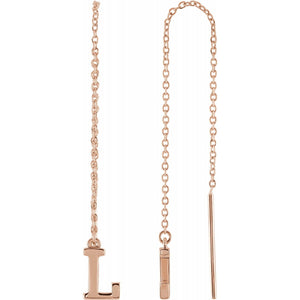 Single Initial Chain Earring