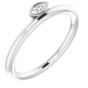 Diamond Asymmetrical Stackable Ring