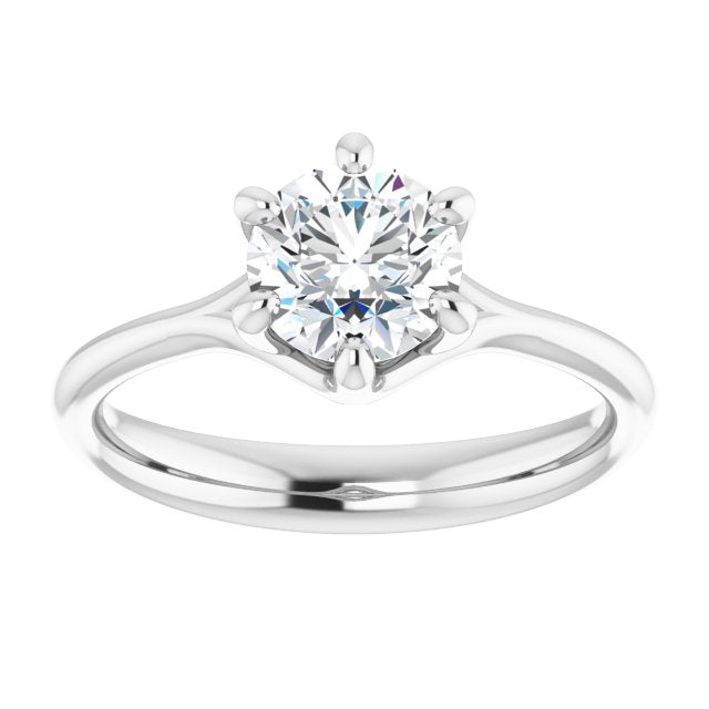 6-Prong Round Engagement Ring