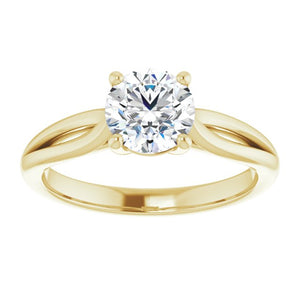 Solitaire Round Engagement Ring