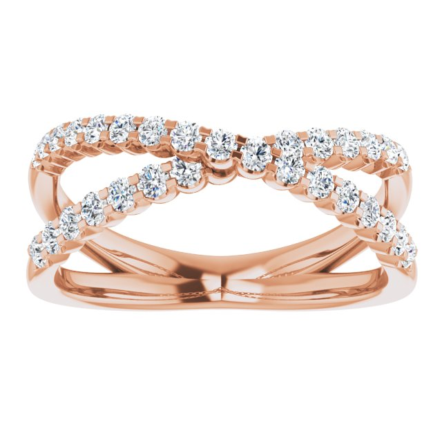 Lab-Grown Diamond Criss-Cross Ring