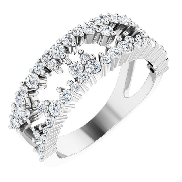 Diamond Negative Space Ring