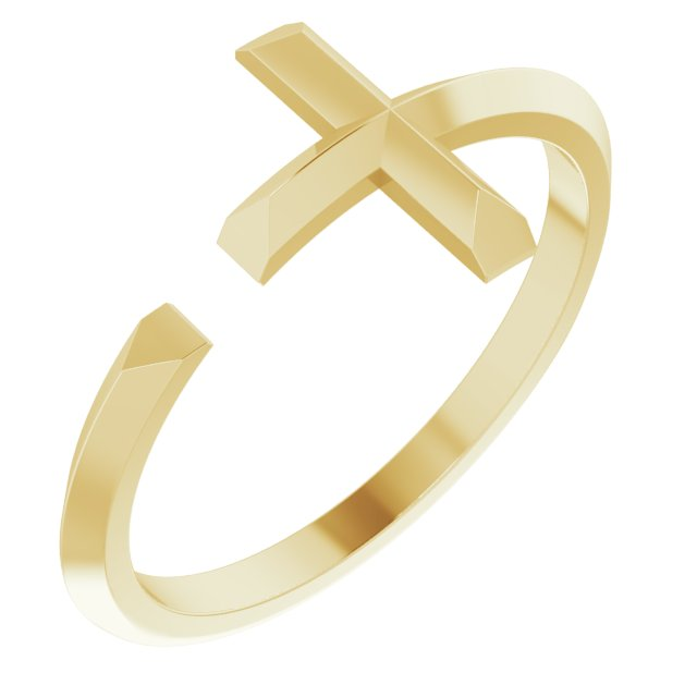 Negative Space Cross Ring