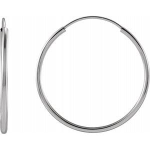 Flexible Endless Hoop Earrings