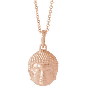 White Buddha Necklace