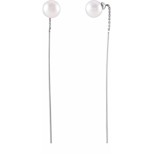 Freshwater Cultured Pearl Threader Earrings
